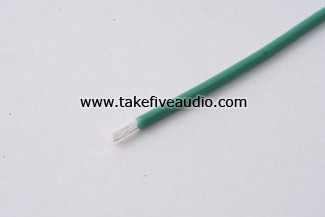 Mil Spec 16 AWG Silver Plated Copper Wire Green Cryo Treated