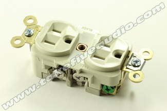 Hubbell 5262I Heavy Duty Grade Outlet Ivory Cryo Treated