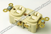 Hubbell 5362I Heavy Duty Grade Outlet Ivory Cryo Treated
