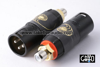 Cardas Female RCA to Male XLR Adapters Cryo