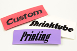 Shrinktube Pre-Printed Designs & Custom Text Polyolefin 2:1