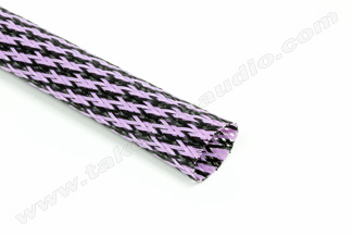 Polyethylene Expandable Cable Sleeve 3/4 Black/Purple