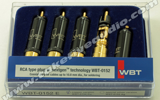 WBT 0152 Cu Male RCA Set Cryo Treated