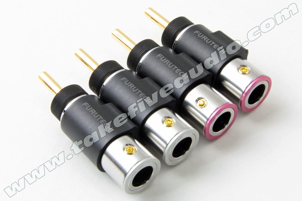 Furutech FT-212(G) Gold Locking Banana Plug - Furutech Speaker Cable ...